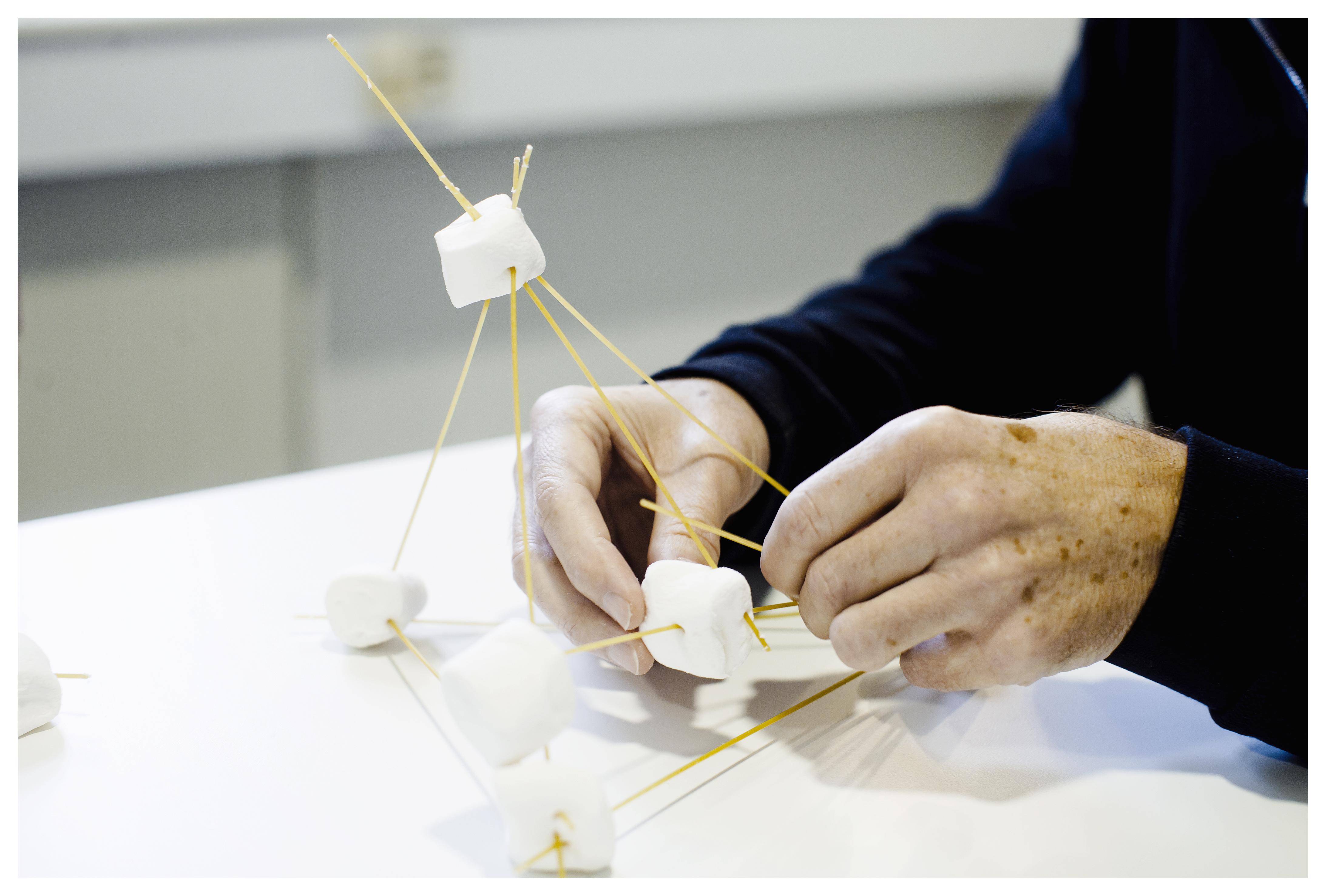 CST er en evidensbaseret terapiform, der fremmer kognitionen hos borgere med demens gennem træning. En opgave kan for eksempel være at bygge et tårn af skumfiduser og spaghetti.