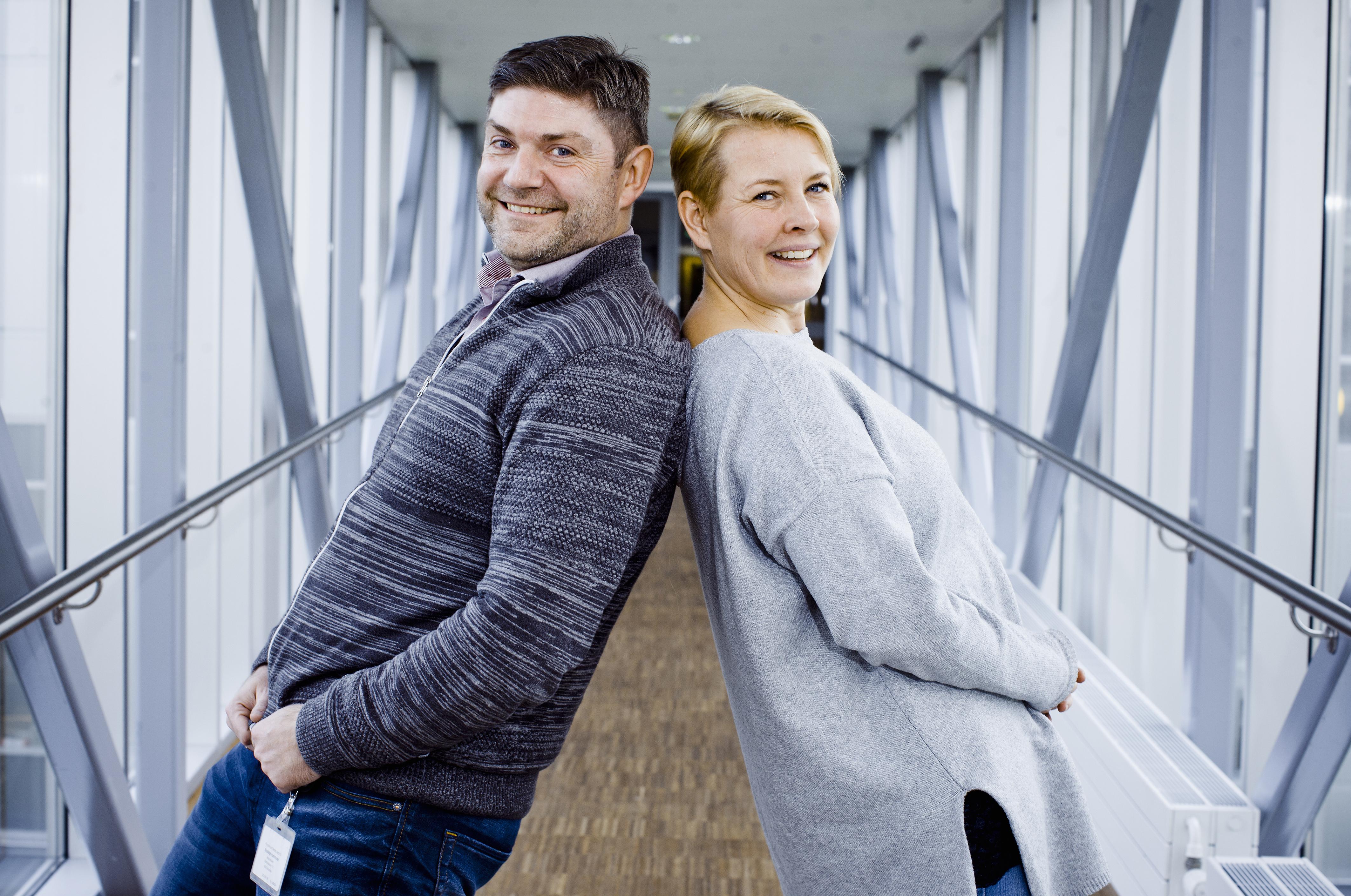 Fællestillidsrepræsentanterne Jeanette Bang-Jensen, Etf, og Kim Schousboe, Danske Fysioterapeuter, har med en tidlig indsats været med at skabe et nyt AC-netværk i Roskilde Kommune.
