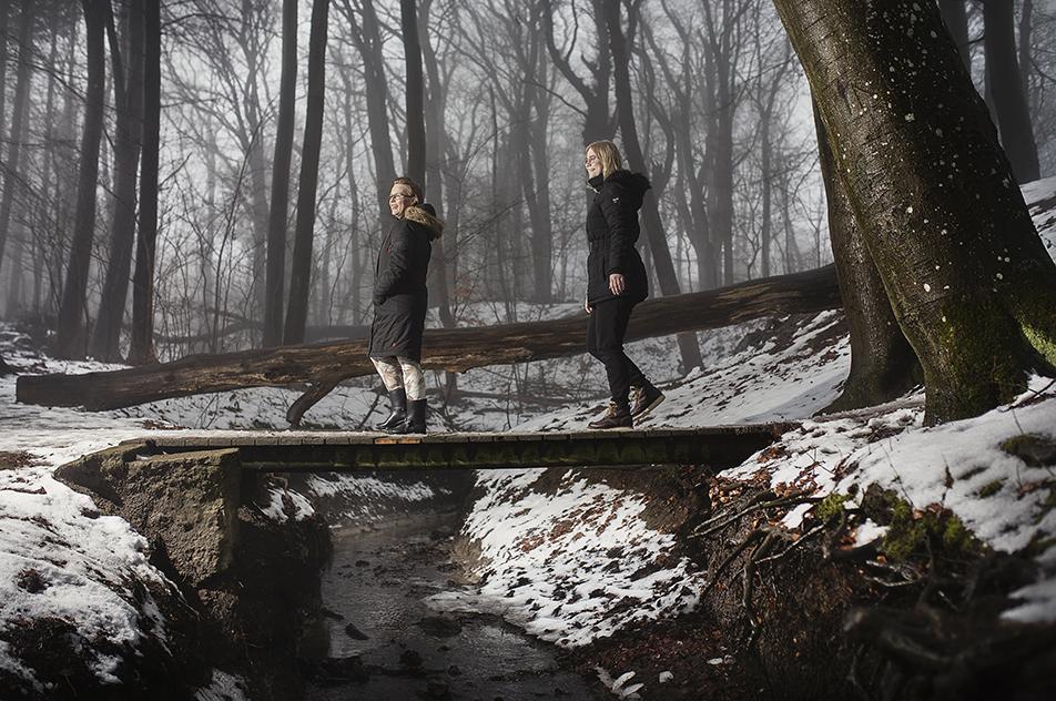 Maria Kristine Julie Pedersen og Line Bredkjær Larsen har undersøgt naturfotografiers effekt på patienter på akutafdelingen.