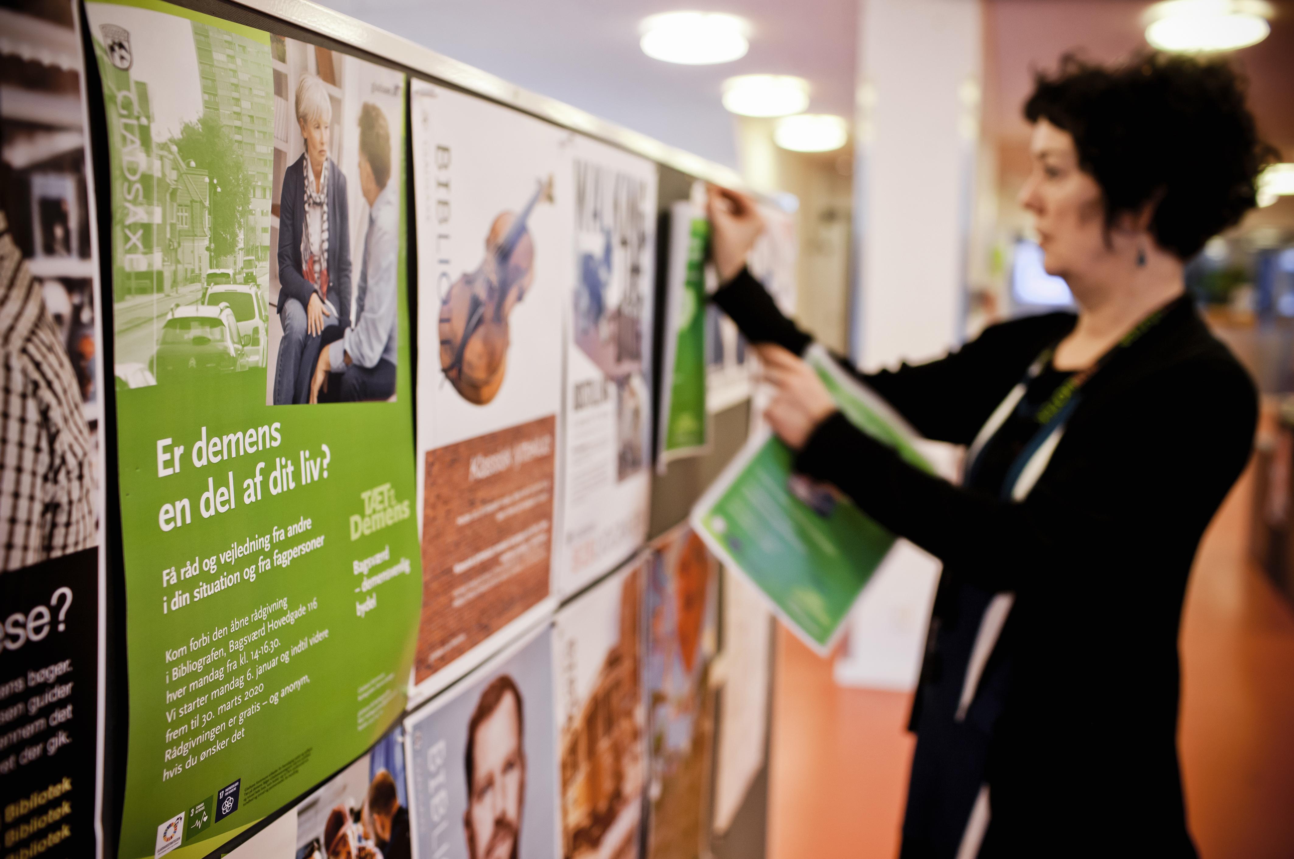 Et af de initiativer, der skal gøre Bagsværd mere demensvenlig, er åben rådgivning i et hjørne af Bibliografen.