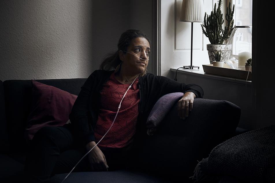 COVID-19 har ramt 45-årige Chafia Aliche hårdt på krop og sjæl. Nu sætter hun sin lid til, at træning kan holde en lungetransplantation på afstand.