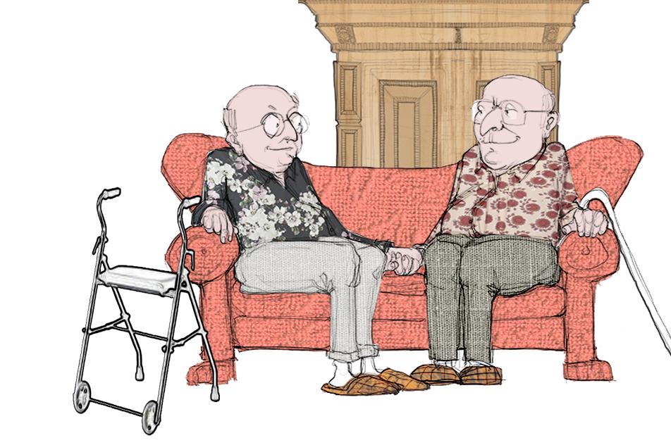"""Ældre LGBT+personer skærmer sig mod dårlige oplevelser ved at """"gå ind i skabet igen"""" og tie om deres seksuelle orientering, når de skal modtage ældrepleje. Sundhedsstyrelsen vil øge personalets viden på området."""