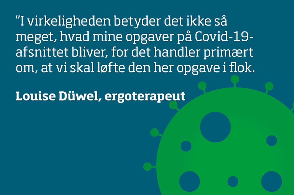 Louise Düwel er udtaget til at arbejde på et særligt Covid-19-afsnit på Sygehus Sønderjylland.