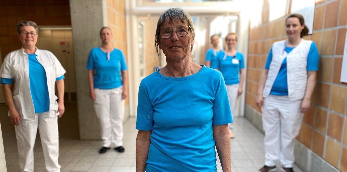 Anne Kantsø Nielsen er trukket i arbejdstøjet igen efter to år som pensioneret ergoterapeut. Nu varetager hun både ergoterapeut- og sygeplejefunktioner på Slagelse Sygehus' sengeafdeling.